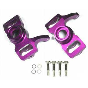 Savage Alloy Front/Rear Steering Block Set 1PR Purple
