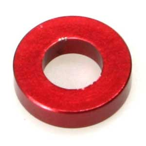 Scalpel T-bar washer red anodized