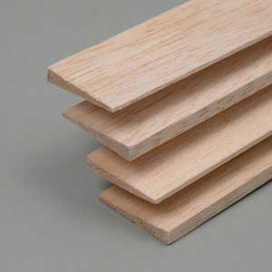Balsa Trailing edges symm. 8x35x1000mm