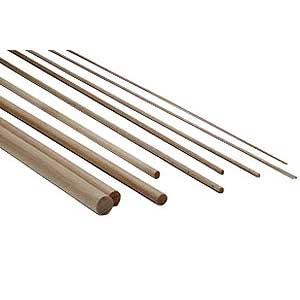 Beech rods D=3 x 1000mm