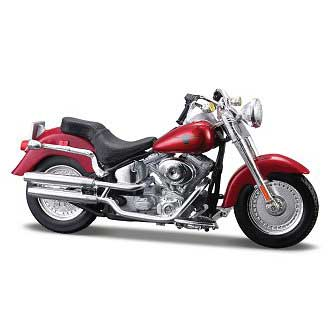 Harley-Davidson FLSTFI Fat Boy 2004 Red (1/18)