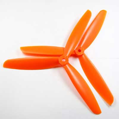 Multicopter 3Blad Propeller Set 5x4.5 Oranje