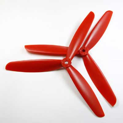 Multicopter 3Blad Propeller Set 5x4.5 Rood