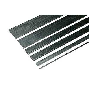 Carbon Fiber Strips 0.9x3.1x610mm 2Pcs
