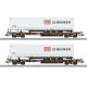 Rail Cargo Austria DB Schenker Deep Well Flat Car Set (H0)