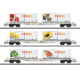 AAE Cargo AG Coop - Container Flat Car Set (H0)