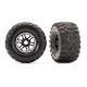 MAXX Tires & wheels assembled & glued (Black Wheels)